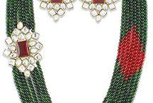Bollywood Inspired Madhuri Dixit Inspired Kundan Wedding Party Jewellery Set