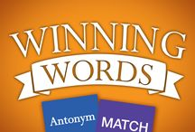 Winning Words MATCH Games / Winning Words  MATCH Games are fun memory match games for all ages. There are 3 levels of difficulty and up to 4 players can play at one time. These are great family games!