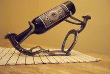 viini pullo teline