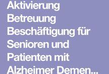 Beschaeftigung für Demente