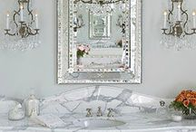 | home : bathroom | / home decor and design for bathrooms .. Love all white french country vintage and  shabby chic