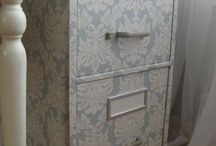 decoupage cabinets painting