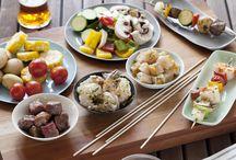 Food - Kabobs / Beef, chicken, vegetable kabobs