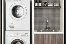 Space saving laundry / Ideas for space saving laundries