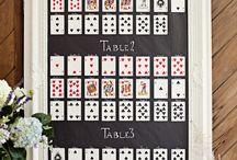 Las Vegas Themed Wedding Table plans / Seating plans for a Las Vegas themed wedding! More ideas in our article http://www.toptableplanner.com/blog/las-vegas-themed-wedding-table-plans