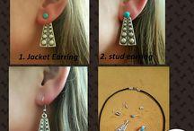 Multipurpose Earring  Ear Jackets, Back Earring, simple Ear Jackets