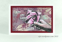 Roses 2 / Art made with the Art Journey rubberstamp sheet: Roses 2