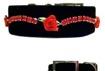 Collars for Big Dogs / These fancy dog collars for big dogs are unique in style. You will not find these crystal large dog collars anywhere else but Dog Collar Fancy.