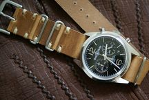 Vintage Leather Nato Watch Straps / Some shots of vintage leather nato combos!!!