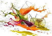 healthy drinks and food