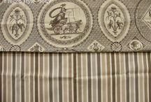 """CASAL"" tissus Toile de Jouy / tissus toile de Jouy de la Société Casal フランス、カザル社のトワルドジュイ布"