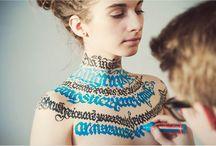 Calligraphy Bodyart