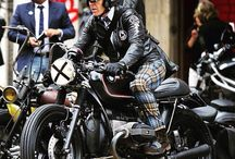 Motorcycles and drivers in style