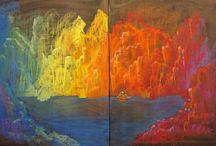 Rudolf Steiner schoolbord tekening