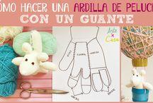 Cómo hacer peluches DIY / Mil ideas para hacer peluches caseros con cosas tan simples como guantes y calcetines, quedan muy bonitos ;)