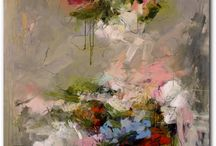 flowers abstract painting