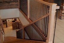 Stairs Using Reclaimed Wood / http://heartpine.com
