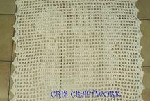toalhas de crochê