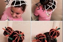 Crazy hair buns