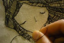 illo (embroidery illustrations) / Alternative ways of illustrating, such as embroideries and sculptures