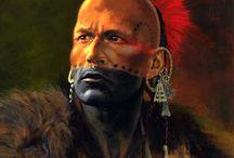 индейцы воины и пленники.
