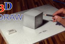 3D Drawing and Painting / magical paintings as optical illusion  How to draw and paint in 3D effect!