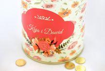 Puszki z w własną etykietę prezent na ślub / Puszki z wybraną etykietą i zawartością- świetny pomysł na prezent ślubny  http://3dpoint.pl/?page_id=15234