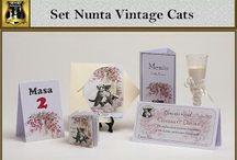 Set nunta Vintage Cats
