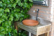 basin in the garden / basin in the garden