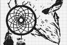 Cross stitch - wolves