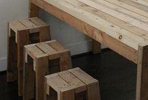 Chair, Stool, Table