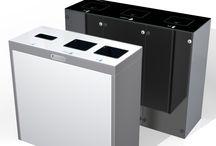 Wertstoffbehälter Innenraum / Recyclingstationen für Büros und öffentliche Gebäude