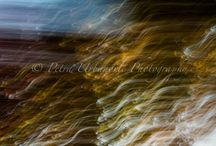 Abstract art / Abstract photography made by the techniques of kinetic photography - zoom burst and panning