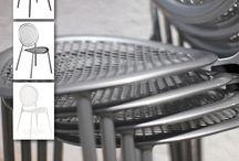Sillas para terrazas hostelería / Colección de #sillas para #terrazas #hostelería, proyectos contract, espacios públicos, hoteles.