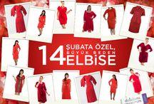 14 Şubata 14 Büyük Beden Elbise / http://www.dolabimiseviyorum.com/sevgililer-gunu