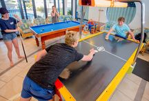 Recreation Room / Family FUN - BIG4 Middleton Beach / The Recreation Room contains a pingpong table, pool table, video games and other games to keep the kids entertained.  ​The room also includes a kitchen facility.