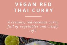 Vegans red curry thai