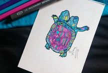 Turtle tattoos / Sea Turtle tattoos used to be rare ones, but not anymore these days.... http://fabulousdesign.net/turtle-tattoos-meanings/