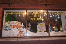 Unicoi Art Studio / See some of our window holiday displays as well as giant paintbrushes and more!
