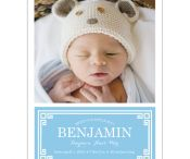 New! Preppy Modern Photo Birth Announcement Cards