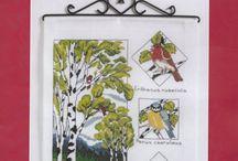 broderi fugle