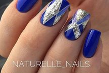 blue nailsss