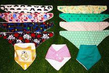Bandanas Anti-Babas / Os presentamos nuestras bandanas anti-babas, con dorso de toalla. Para bebés con estilo. ¡Combínalas con sus modelitos y llévalo seco y molón!