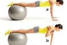 oefeningen met fitnessball