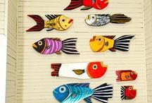 Ahşap balık boyama