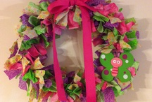 Wreaths/ Ribbon & Rags / by Sherri Hall