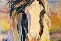 pintura caballos