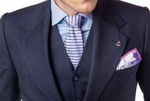 PIETER PETROS || MAESTRO I / A three piece dark-blue suit which has a classic and elegant look.