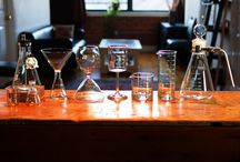 Periodic Tableware / Marrying the clarity of science with the art of mixology, Periodic Tableware captures the reaction between laboratory glass and modern barware.