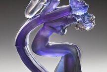 Esculturas de vidro /